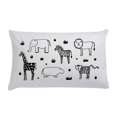 LOVE THIS! Safari Organic Pillow Case from 100 Percent Heart - shop at littlewhimsy NZ