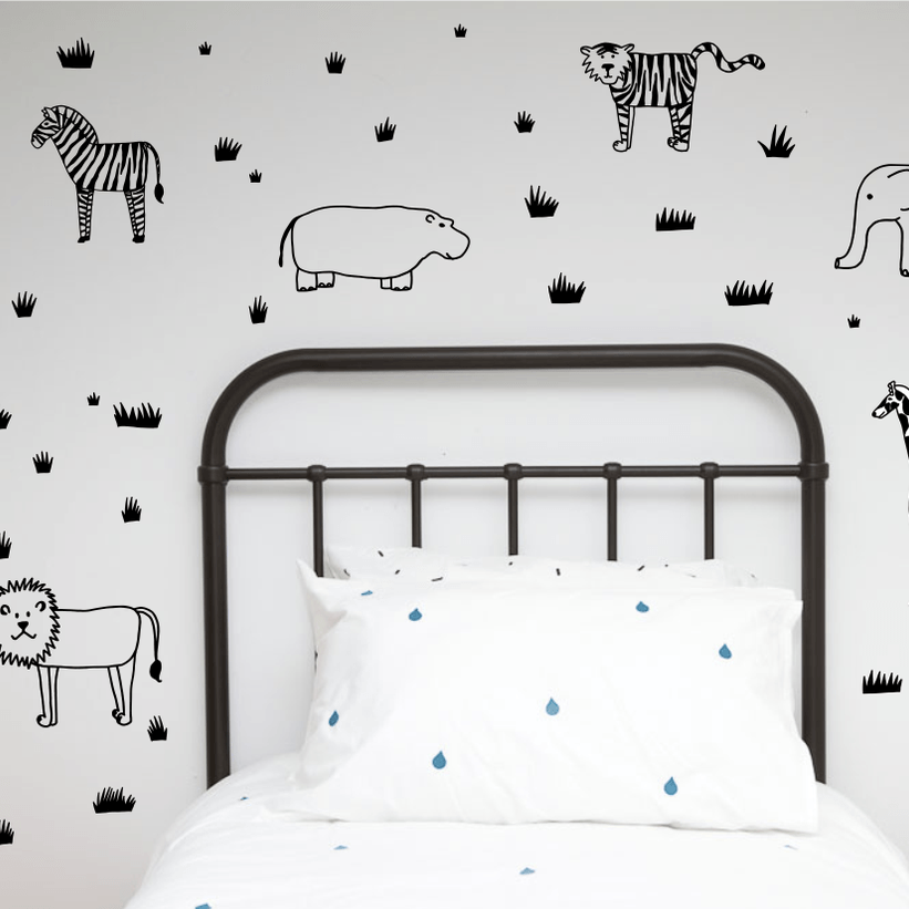 Wall decals littlewhimsy wall decals safari animals wall decals from 100 percent heart shop gumiabroncs Images