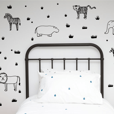 LOVE THIS! Wall Decals - Safari Animals Wall Decals from 100 Percent Heart - shop at littlewhimsy NZ