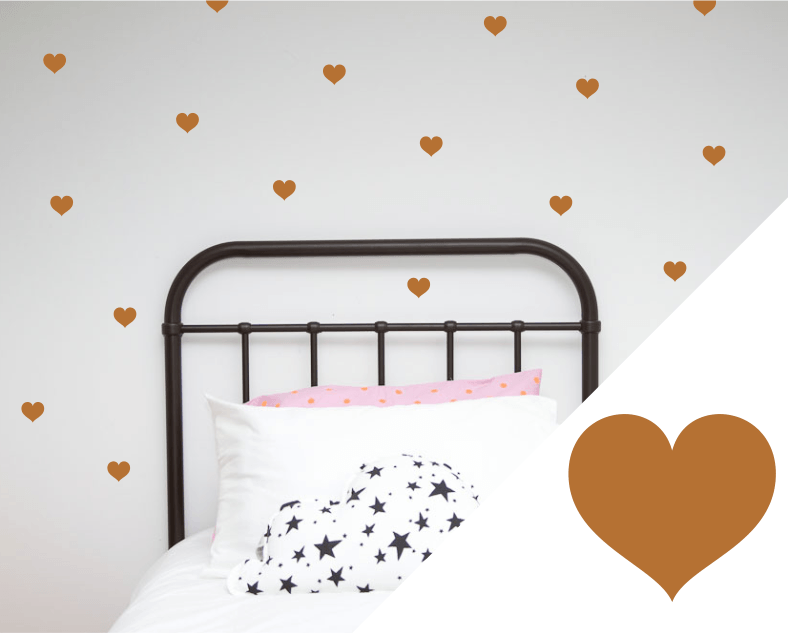 LOVE THIS! Wall Decals - Hearts Small from 100 Percent Heart - shop at littlewhimsy NZ