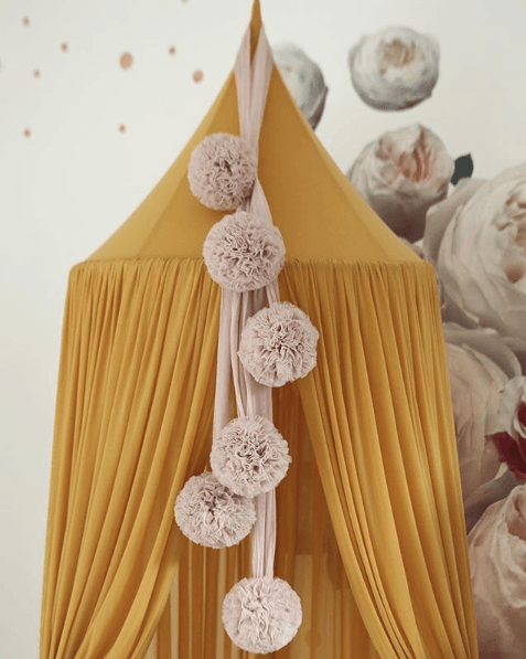 LOVE THIS! Spinkie Pom Garland in CHAMPAGNE from Spinkie - shop at littlewhimsy NZ