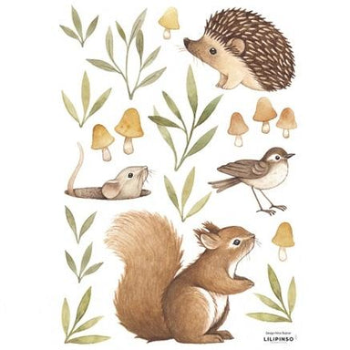 LOVE THIS! Wall Decals - Little Forest Animals from Lilipinso - shop at littlewhimsy NZ