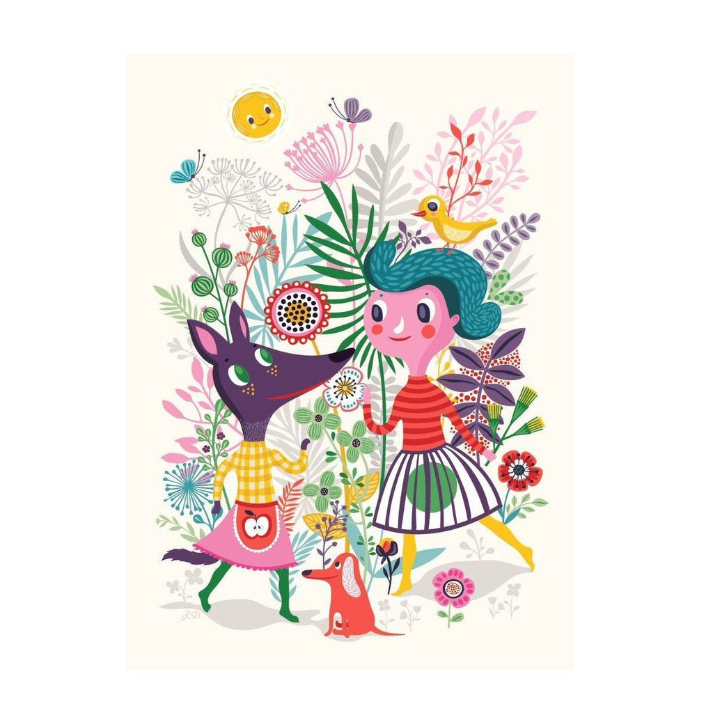 LOVE THIS! Poster Sweet Fox 50x70cm by Helen Dardik from Petit Monkey - shop at littlewhimsy NZ