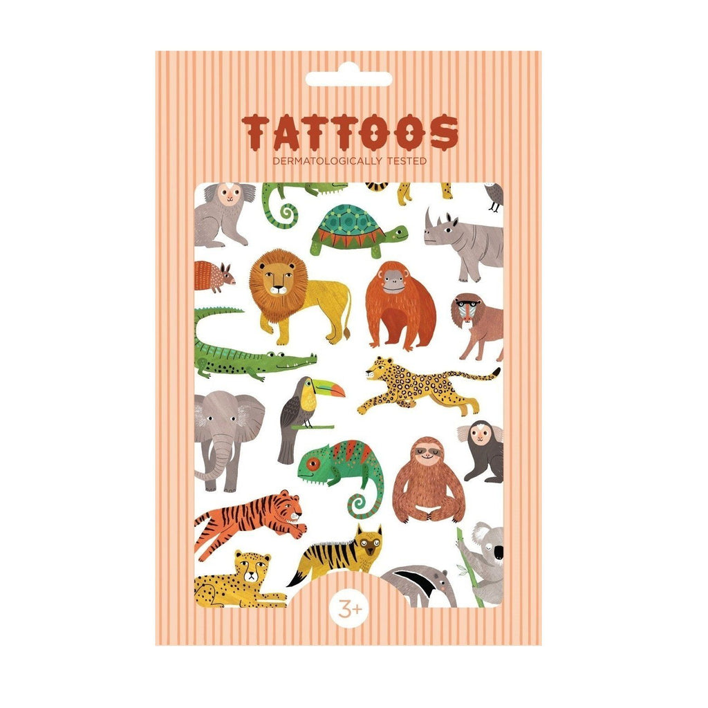 LOVE THIS! Tattoos Jungle Animals from Petit Monkey - shop at littlewhimsy NZ