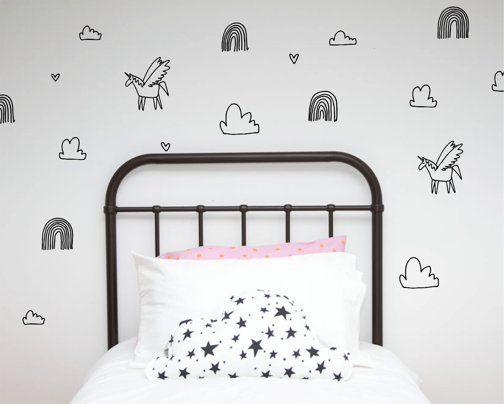 LOVE THIS! Wall Decals - Unicorn Dreams from 100 Percent Heart - shop at littlewhimsy NZ