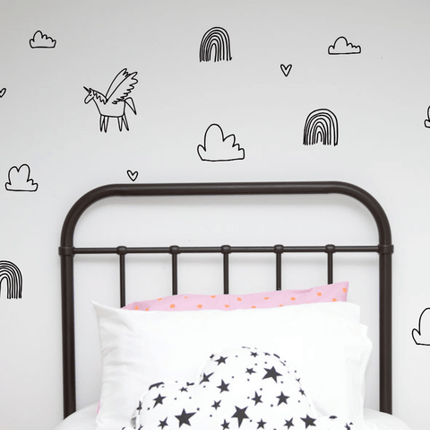 Wall Decals - Unicorn Dreams - little whimsy - 1
