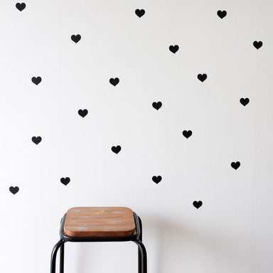 LOVE THIS! Wall Decals - Small Hearts from 100 Percent Heart - shop at littlewhimsy NZ
