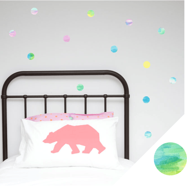 LOVE THIS! Wall Decals - Polka Dots - Watercolour Range from 100 Percent Heart - shop at littlewhimsy NZ
