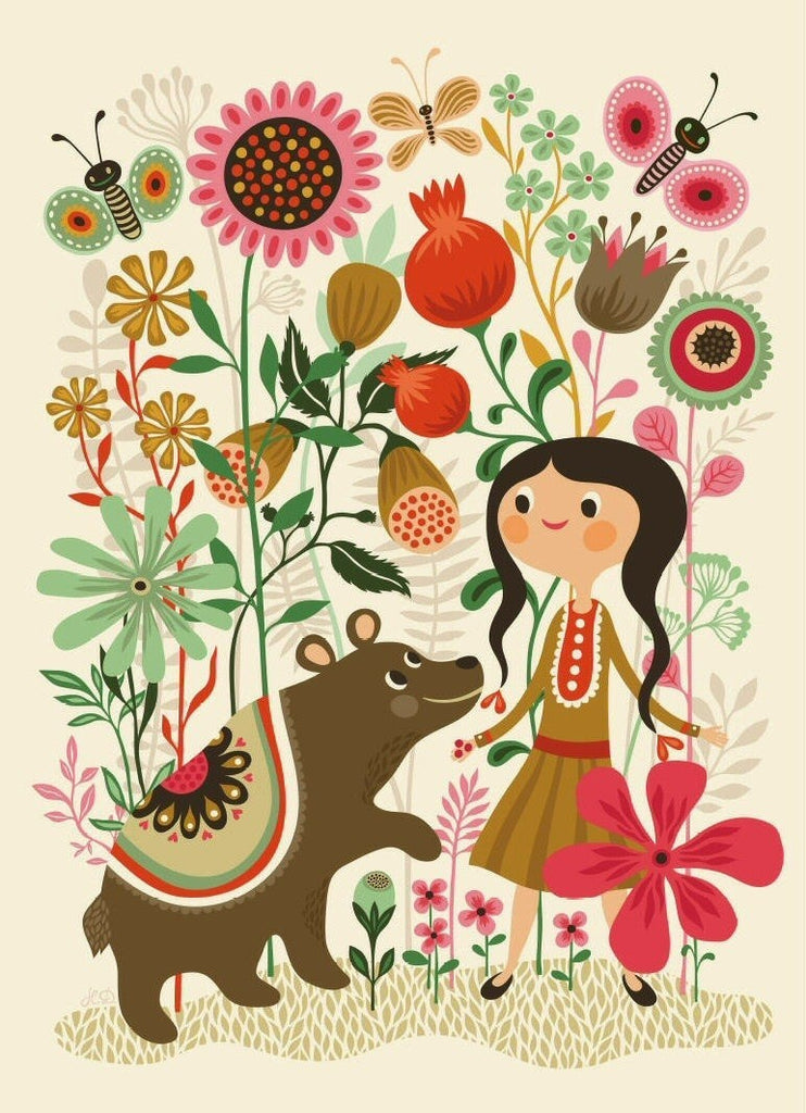 LOVE THIS! Poster Wild Dream 50x70cm by Helen Dardik from Petit Monkey - shop at littlewhimsy NZ
