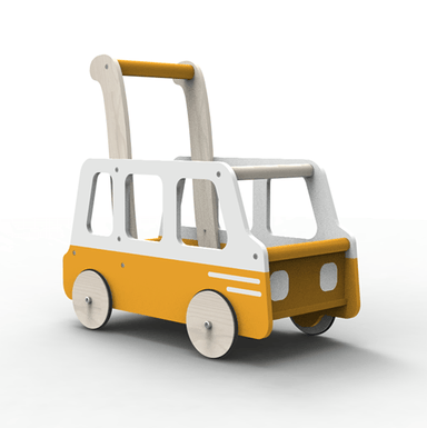 LOVE THIS! Moover Line School Bus Push Walker from Moover - shop at littlewhimsy NZ