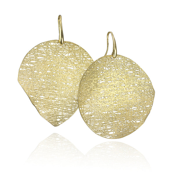 14KT Gold Mesh Earrings