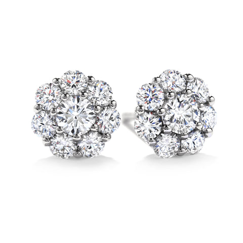 18KT Gold Diamond Beloved Stud Earrings
