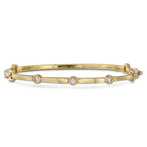 18KT Gold Diamond Copley Multi Stone Bangle