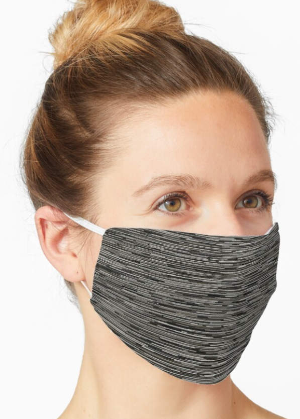 Dark gray lines face mask