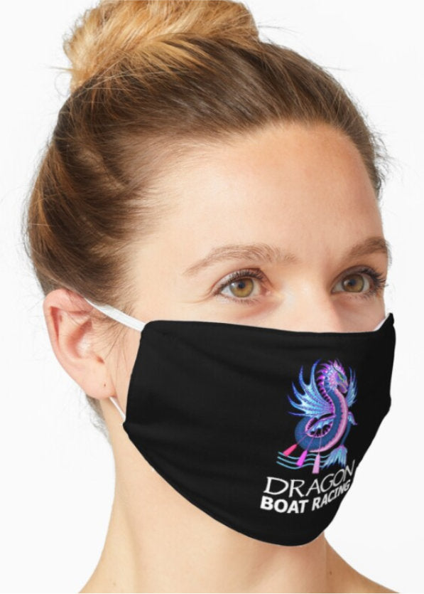 blue pink water dragon boat racing face mask