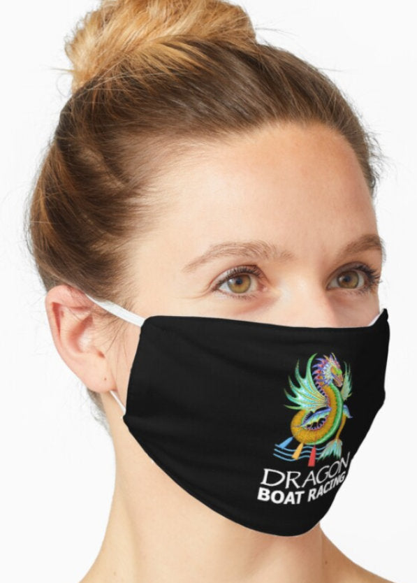 gold green water dragon boat racing face mask