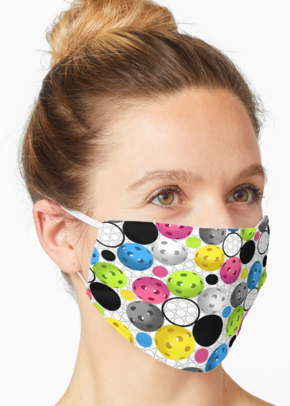 Modern Pickleball pattern face mask
