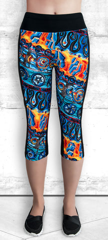 Capri Leggings - Tribal Dance #1012B