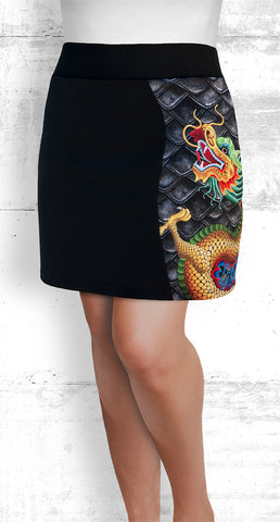 golf/tennis/travel/dragon boat skort - Gold Dragon