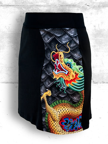 Skort with Large Golden Dragon