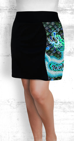 Skort - Large Emerald-blue Dragon (Style #7010)