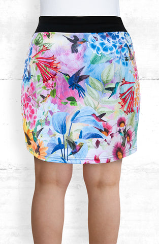 Skort/Humming Birds and Flowers