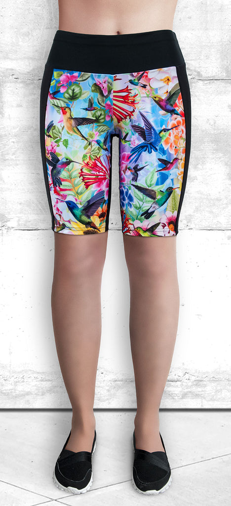 Training Shorts - Humming Birds and Flowers (TS-3023)