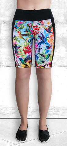 Training Shorts - Humming Birds and Flowers