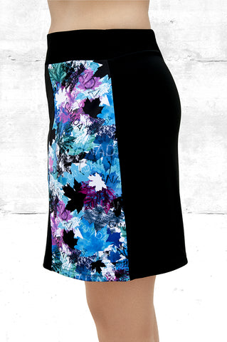 Skort -blue and pink maple leaves  (Style #5021)