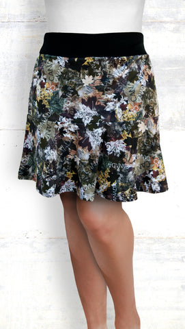 Flounce Skort - Maple Leaves, Earth Tones (Style #6030)