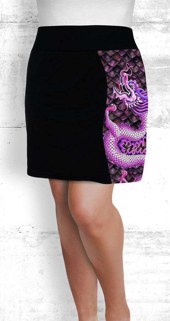 golf/tennis/travel/dragon boat skort - Pink Dragon