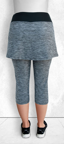 Skapris/Ash Gray (Capris with skirt attached)