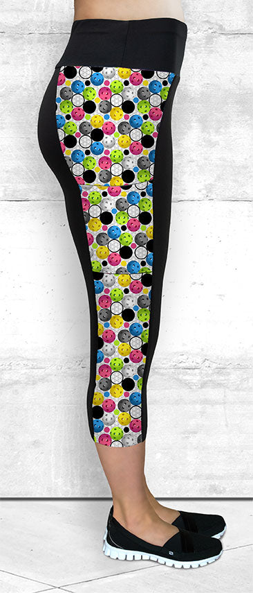 Capri leggings with side pocket for pickleball