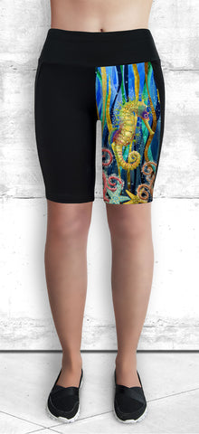 Training Shorts - Seahorses