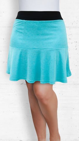 Skort/Aqua with Front and Back Flounce