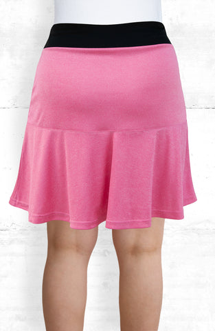 Skort/Pink with Front and Back Flounce