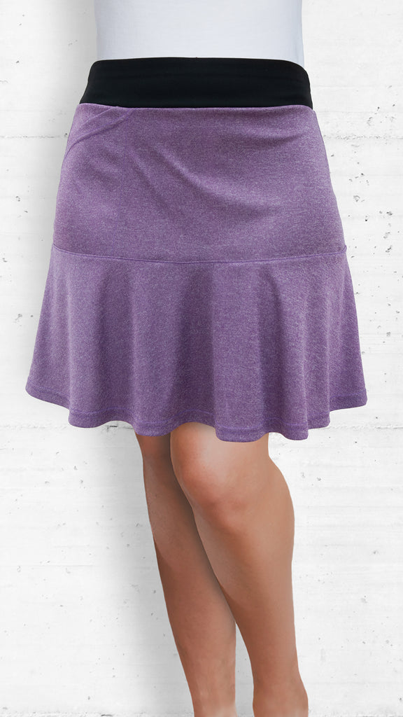 Skort/Purple with Front and Back Flounce