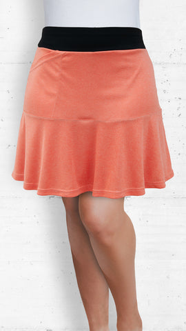 Skort/Salmon with Front and Back Flounce