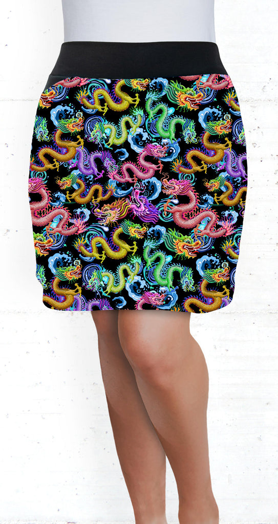 golf/tennis/travel/dragon boat skort - Dragon Storm Print