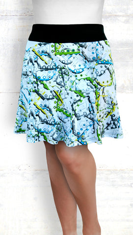 Flounce Skort - Techno Abstract (Style #6032)