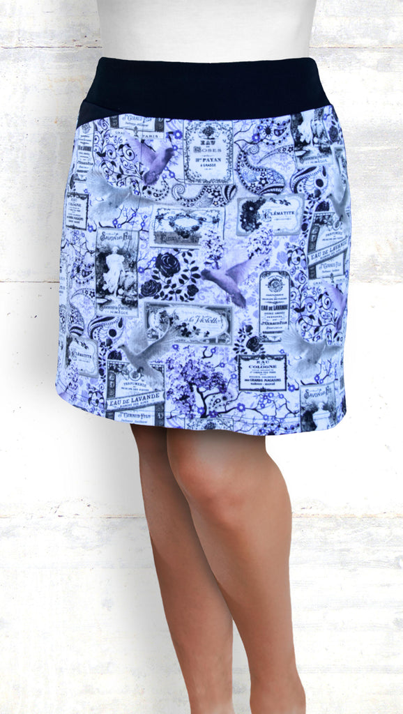 golf/tennis/travel skort - Perfume labels - lilac/white/gray