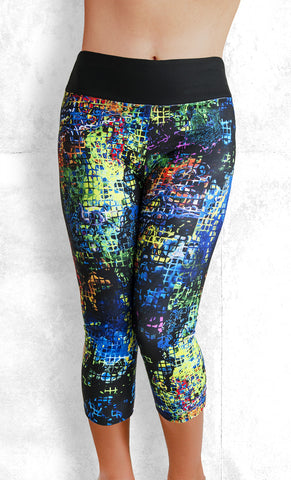 Capri Leggings - Neon Night (#1012)