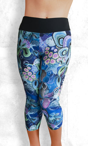 Capri Leggings - Ocean Dreams (#1008)