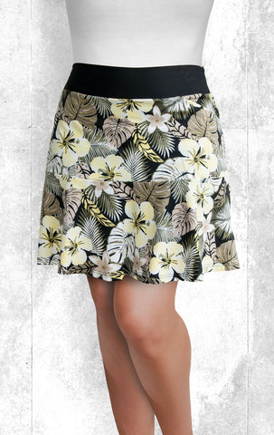 Skort - Lilies and Palms. (Style #5020)