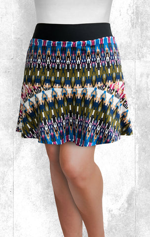Skort - Modern Multi-Color Print