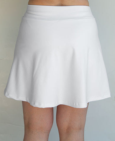 Skort - White with side slit