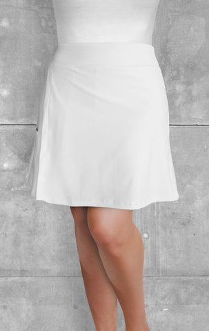 Skort - White with side slit (Style #4005)