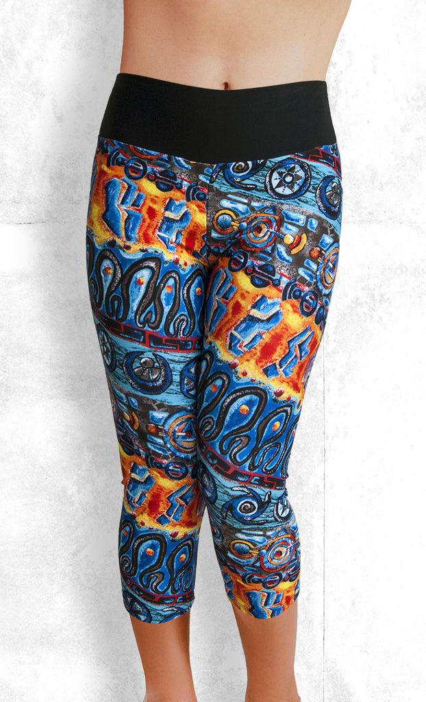 Capri Leggings - Tribal Dance