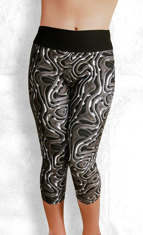 Capri Leggings - Twisted Metal (#1002)
