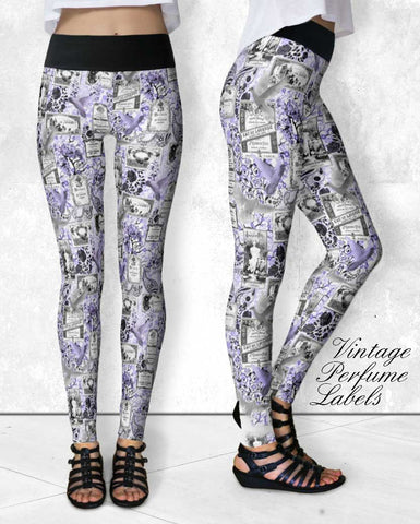Leggings - Vintage Perfume Labels